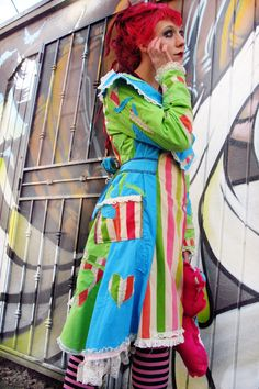Bright Japanese Victorian Circus Long patchwork COAT