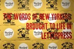letterpress art show.