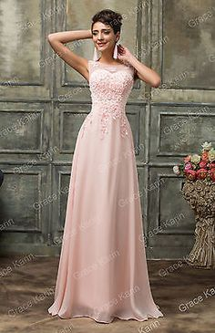 Abito elegante lungo da donna damigella cerimonia vestito festa sposa ballo sera