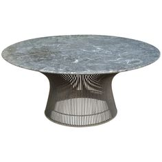Warren Platner Bronze Coffee Table Base with Green Marble Top for Knoll   From a unique collection of antique and modern coffee and cocktail tables at http://www.1stdibs.com/furniture/tables/coffee-tables-cocktail-tables/