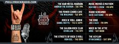 Our Show Lineup here on PhillyRockRadio.com - Great shows ALL week long!