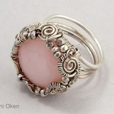 Stunning Ring! Imagine having the skill and knowledge to MAKE it! This Tutorial is $7.00, but you can learn a skill that you can use over and over again. Maybe even start a business! A bit difficult for me, I'm afraid.