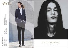 CHRIS ARUNDEL- Storm Models London Fall Winter 2015.16 Show Package