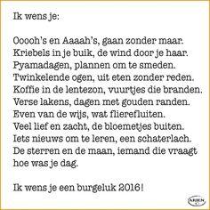 Ik wens je... #gedicht #tekst #kaart #nieuwjaar #2016 #wensen #versje Happy Wishes, New Year Wishes, Christmas Wishes, Wish Quotes, Happy Quotes, Me Quotes, Christmas Text, Christmas Quotes, December Quotes
