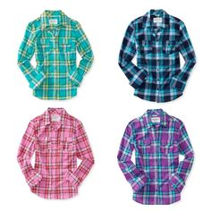 Love the plaids at Aeropostale