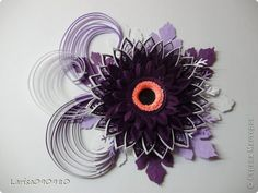 Поделка изделие Бумагопластика Квиллинг Герберы-магниты Бумага Бумажные полосы Клей Магниты фото 9