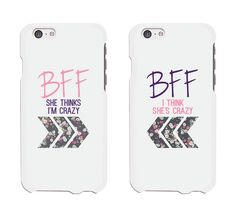 Best friends floral phone cases by by 365 In Love #bff #bffaccessories #bestfriends #bestfriendphonecases #365inlove