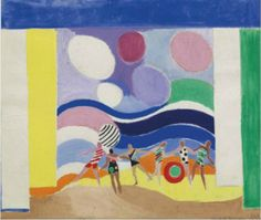 By Sonia Delaunay (1884-1979), 1928-29, Project setting for the four seasons, Summer.