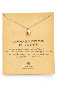 Dogeared Fortune Cookie Pendant Necklace available at #Nordstrom