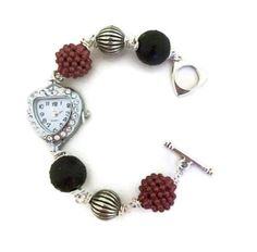 Rhinestone HeartFaced Bracelet Watch VALENTINE'S by BeadoRama123, £15.00