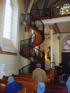 Loretto Chapel Miraculous staircase, Santa Fe, NM. In person, Christmas 2011.