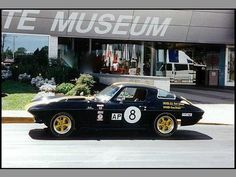 This is the Vette raced by Bob Johnson of the Johnson & Johnson racing… Racing Baby, Racing Team, Garage Signs, Johnson And Johnson, Saddle Leather, Corvettes, Vintage Racing, Chevrolet Corvette, Muscle Cars