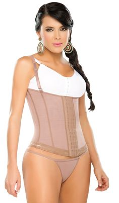 FAJAS DPRADA 11173 WAIST CINCHER VEST - FAJA CHALECO CON BROCHES   Sizes:XXS-5X Price $70.00  Abdominal Strapless Girdle - Removable Straps. Abdominal girdle with upper back and strong compression. It's clasps can be adjusted to fit three different positions to fit to your needs along with interchangeable straps so that you can wear your favorite bra