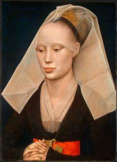 4. Probably MARIE DE VALENGIN illégitime daughter of Philippe le Bon, duc de Bourgogne; VAN DER WEYDEN Rogier - Flemish (Doornik 1400 - 1464) ~ Portrait of a Lady (1460, National Gallery Washington DC)