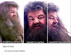 This accurate representation of all of us when kids are nearby. | 22 Tumblr Posts To Remind You That Harry Potter Fans Are Hilarious