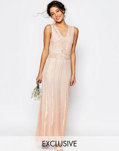 Image 1 ofMaya Vintage Embellished Maxi Dress
