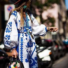 Maxi white boho dress Embroidered linen plus size tunic with ethnic ukrainian embroidery Fashion bohemian gownfor beach wedding Vyshyvanka White Boho Dress, White Maxi, Anna Dello Russo, Embroidered Clothes, Embroidered Tunic, Design Blog, Design Art, Milan Fashion Weeks, London Fashion