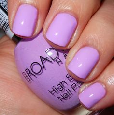 ☆$1 Nail Polish @ Dollar General: Broadway Nails EASTER ANNIE☆ a bright pastel lilac creme, on the verge of being neon.