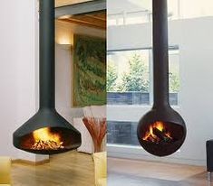 Image result for hanging tube fireplace