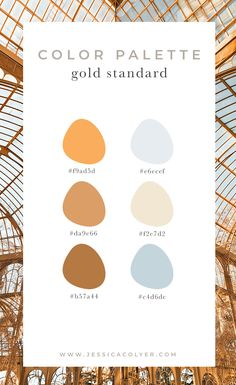 There is a happy and cheery gold color palette for every personal design style! Use this color combo in your new outfit, home design, or art piece! Colour Pallette, Colour Schemes, Color Patterns, Gold Color Scheme, Colour Combinations, Decoration Inspiration, Color Inspiration, Decor Ideas, Palette Design