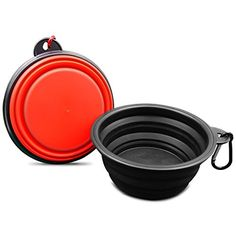 Dog Travel Bowls - Travel Dog Bowl Collapsible Pets Travel Bowl 2Pack for Food  Water Portable Food Bowls for Dogs Cats with Chip >>> Details can be found by clicking on the image. (This is an Amazon affiliate link)