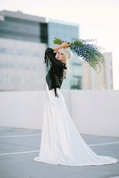 Bouquet. So simple & elegant. Perhaps we could do a theme of white and green for the flowers/greenery with a touch of blue.