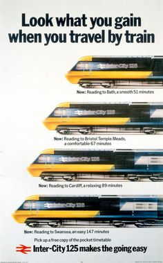 Kenneth Grange draws a train Train Posters, Railway Posters, 80s Posters, Poster Ads, Transport Map, Public Transport, Transport Posters, Train Service, Hobby Trains
