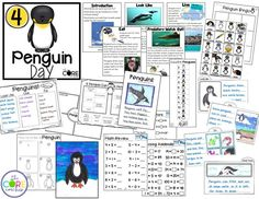 Penguin Day classroom activities are part of these 5 non-holiday countdown to winter break lesson plan days. Reading, Writing, Math, Art and more!
