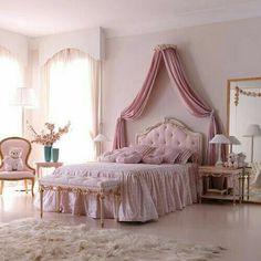 Luxury Bedroom Design, Girl Bedroom Designs, Room Ideas Bedroom, Home Room Design, Bedroom Decor, Dream Rooms, Dream Bedroom, Master Bedroom, Girls Bedroom