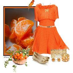 """Orange"" by diane-shelton on Polyvore"