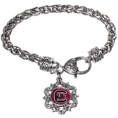 NCAA South Carolina Fighting Gamecocks Round Flower Logo Charm Braided Rope Bracelet Judson http://www.amazon.com/dp/B00JK6RSW8/ref=cm_sw_r_pi_dp_HNM4tb0AG4BTQ