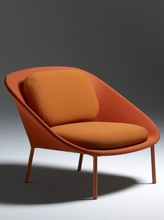 NETFRAME armchair by Offecct @iSaloni | #design Cate #orange #colour