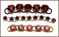Did you know you can use Swarovski montees for jewelry designs? #Tutorial collection here!
