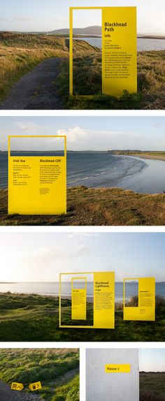 Design shortlisted by CIL (Comissioners of Irish Lights) for final selection.This project asked for the design of a complete identity for a developing Irish tourism initiative, centred around a countrywide lighthouse trail. The goal of the Lighthouse … Website Design Layout, Layout Design, Design Design, Cristiana Couceiro, Lighthouse Trails, Crea Design, Presentation Board Design, Booth Design, Stand Design