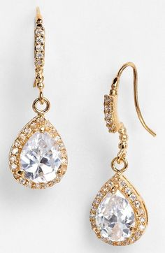 Nina 'Gale' Teardrop Earrings available at #Nordstrom