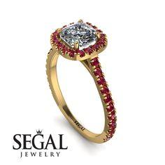 Cushion Diamond Halo Engagement Ring - Jade No. Gold Diamond Rings, Diamond Wedding Rings, Cushion Diamond, Diamond Anniversary Rings, Proposal Ring, Halo Diamond Engagement Ring, Engagement Gifts, Unique Rings, Jewels