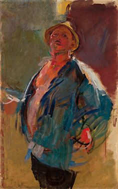 "Anton Kolig - ""Self-Portrait With Blue Jacket"" 1926"