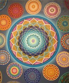 Mandalas en círculo