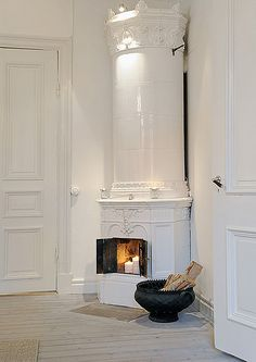 a gorgeous swedish apartment for sale by the style files, via Flickr