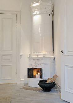 swedish stove - white