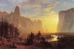Albert Bierstadt, Yosemite Valley Yellowstone Park, 1868, olieverf op  doek, 91.4 x 137.2 cm, Oakland Museum of California