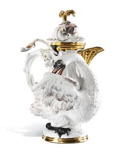 """Mustard pot with Spoon """"Swan Service"""""""