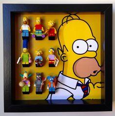 Lego Simpsons series minifigures Frame. by LegoMinifiguresFrame
