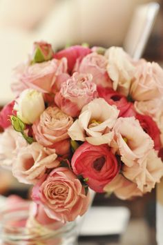 Pink , sorbet pink bridal bouqet