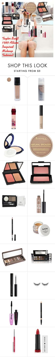 """Taylor Swift 1989 Album Inspired Makeup Tutorial 2014!"" by oroartye-1 on Polyvore featuring beauty, Maybelline, COVERGIRL, NARS Cosmetics, Rimmel, e.l.f., NYX, Essence, Christian Dior and Urban Decay"