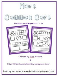 More Common Core: Numbers 1 to 10