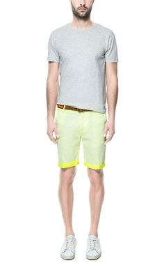 NEON BERMUDAS from Zara