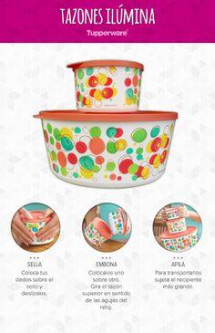¡La línea de tazones Ilúmina son increíbles! ¡Arma tu colección con Tupperware! #Productos #Cocina #Tupperware #Hogar