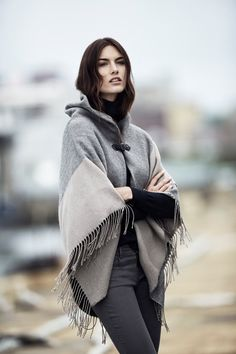 THE NEW NEUTRALS. Twilight-imbued hues and knits, from sun-washed earth tones to stone grey stripes. Ready for anywhere, Ann Taylor's Buckled Cape carries you through fall -- from cool evenings to first frost.