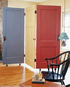 would be a cool room divider but mounted from ceiling with barn  door type movement
